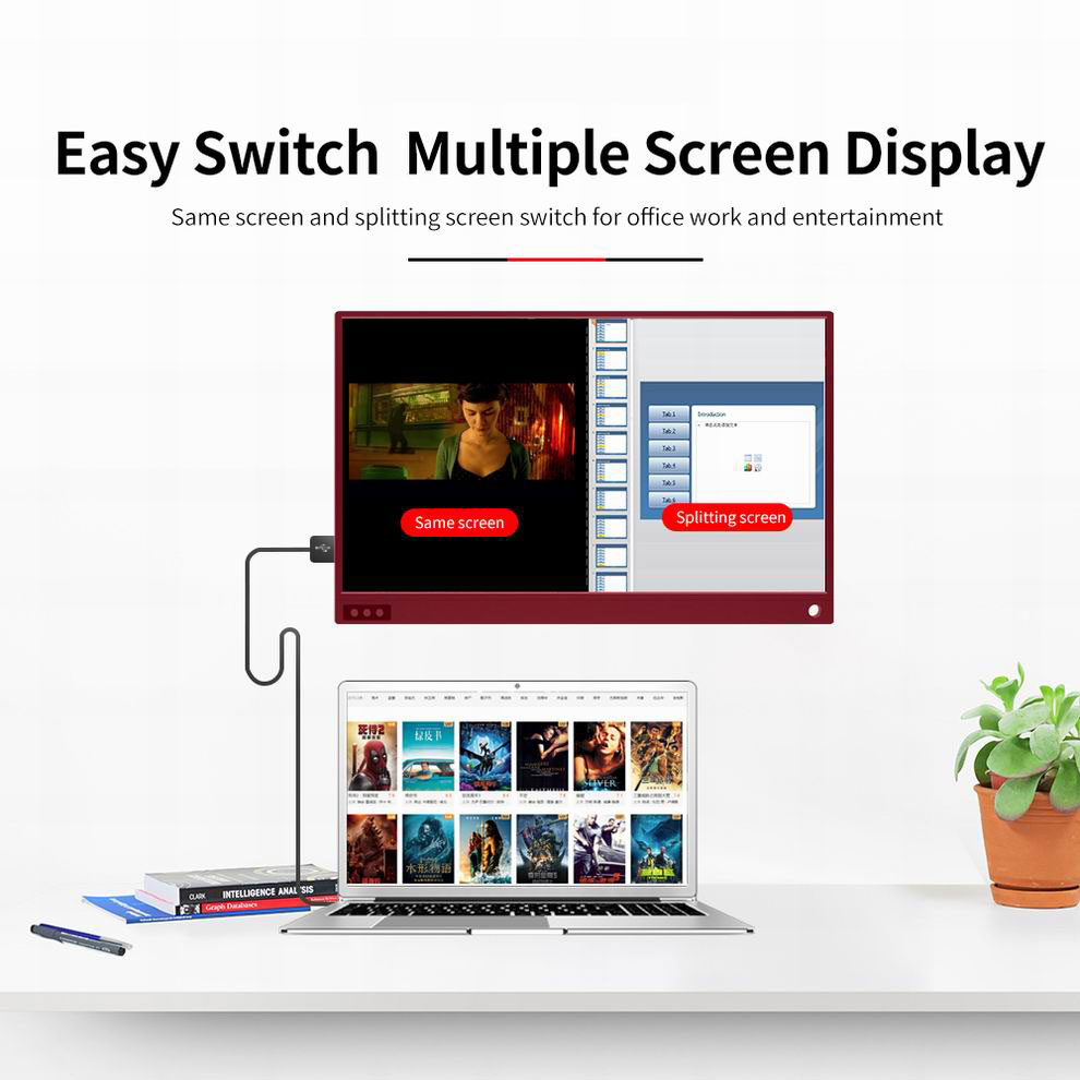Image 2 - 15.6 inch Gaming LCD Monitor Touch Screen Portable 4K 1080P IPS HD USB Type C for laptop Samsung DEX XBOX Switch PS4-in LCD Monitors from Computer & Office