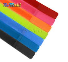 10pcs/pack Colorful Reusable Nylon Magic Tape Hook Loop Cable Cord Ties Tidy Straps Organise