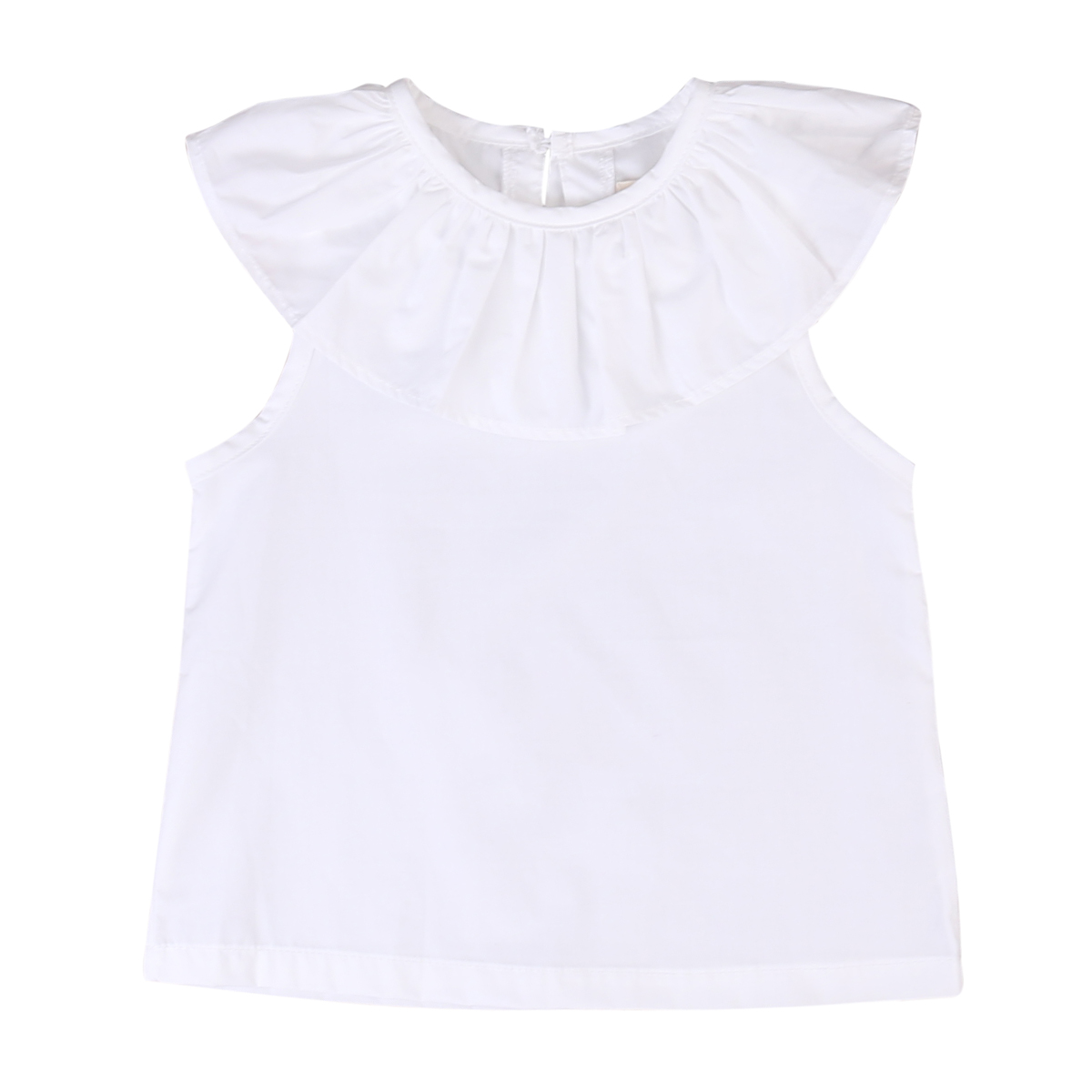 31a3cde43aae Kids Baby Princess Girls White Cotton Tops Lotus Leaf Sleeve Cotton ...
