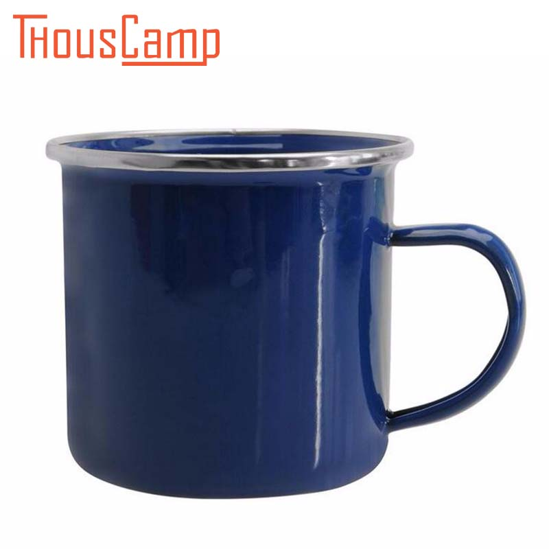 330ML Camping Heat-proof Enamel Mug Milk Coffee Cup Classic For Outdoor At Home kose 330ml
