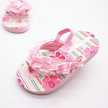 Lovely Summer Floral Patterned Waterproof Girl's Flip Flops