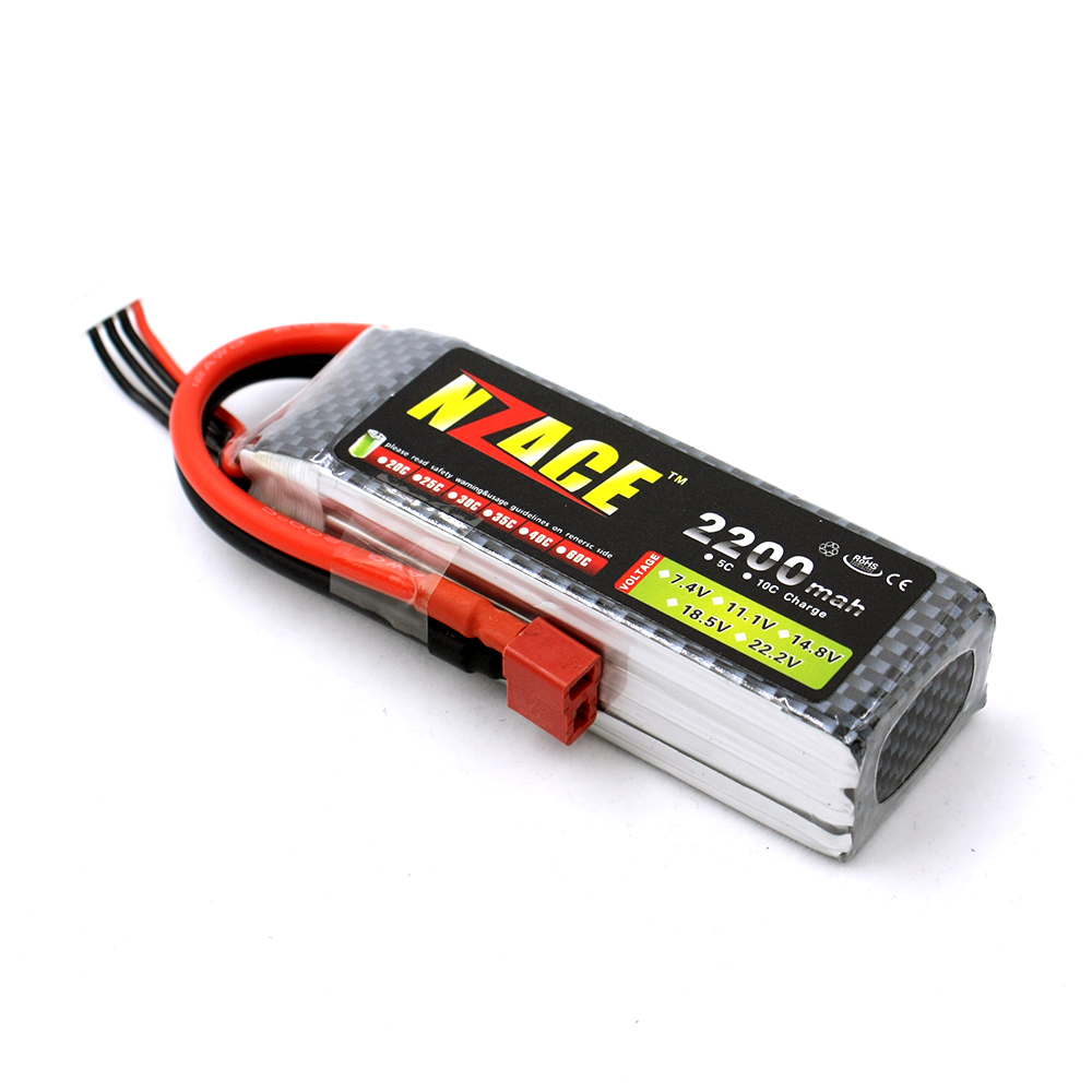 NZACE 3S lipo battery 11.1v 2200mAh 30C rc helicopter rc car rc boat quadcopter remote control toys Li-Polymer battey xxl a grade 4s lipo battery 14 8v 5200mah 30c helicopter rc car quadcopter remote control toys li polymer battey rc parts