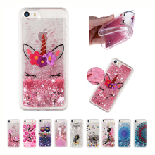 Glitter Love Phone Case For iphone 5 5S 6 6S 7 Plus X XR XS MAX Dynamic Liquid Quicksand Cover Cases Bling Sequins