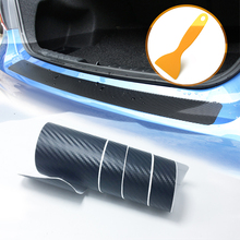 90*8.8cm Carbon Fiber Car Trunk Protection Sticker For Volkswagen VW Polo Passat B5 B6 CC Golf 4 5 6 7 Touran T5 Tiguan Bora цены