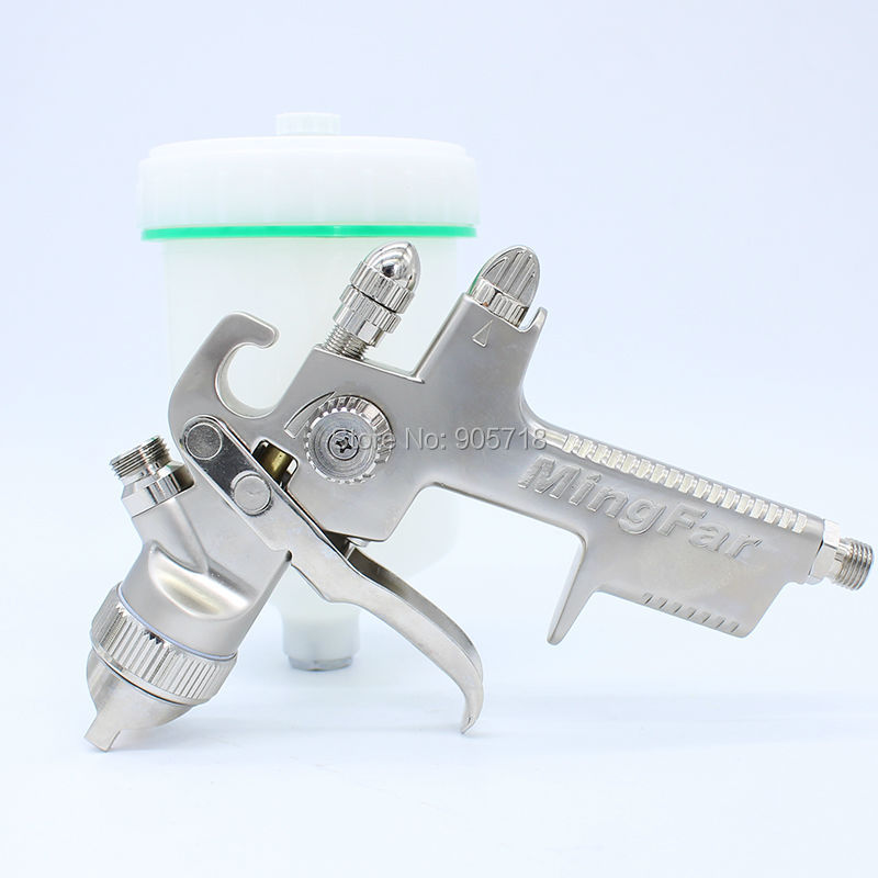 цена на Free Shipping High Quality HVLP AB-17G 1.4mm Or 1.7mm Nozzle Air Paint Spray Gun Pneumatic Sprayer Painting Gun Tool