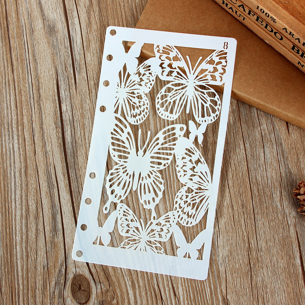 A6 Butterfly DIY Craft Layering Stencils Wall Painting Scrapbooking Stamping Embossing Album Paper Card Template