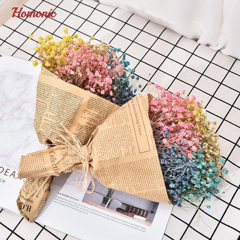1 Bouquet Kleine mini getrocknete gepresste blume Künstliche getrocknete natürliche blumen gypsophila Baby Atem flores Hause Hochzeitsdekor P25