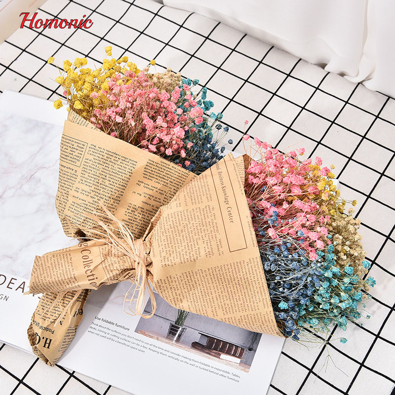 1Bouquet Small mini dried pressed flower Artificial dried natural flowers gypsophila Baby's Breath flores Home Wedding Decor P25