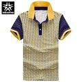 Los Hombres de Manga corta Camisas de Algodón A Cuadros de Diseño de Impresión Tamaño M-2XL verano camisa de polo hombre de negocios slim fit tops masculinos suaves ropa