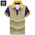 Short Sleeve Men Cotton Shirts Plaid Print Design Size M-2XL Summer Polo Shirt Business Man Slim Fit Tops Soft Male Clothes