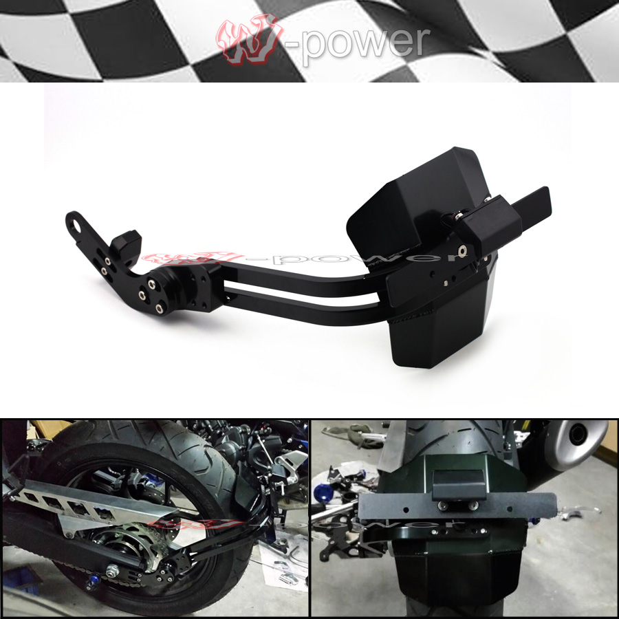 Rear Fender License Plate Holder For YAMAHA YZF R25 R3 MT-25 MT-03 2015-2018 Motorcycle Accessories Mudguard LED Light MT25 MT03 цена