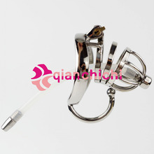 Stainless Steel Male Chastity Device Cock Cage Virginity Lock Penis Lock Cock Ring Chastity Belt