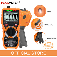 Multímetro Digital PEAKMETER PM18C, valores eficaces auténticos medidor de resistencia de voltaje CA/CC, PM890D, medidor de temperatura de frecuencia de capacitancia NCV