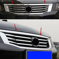 6pcs Silver ABS Chrome Front Grilles Trim Treatment For Honda Accord 2008 2010