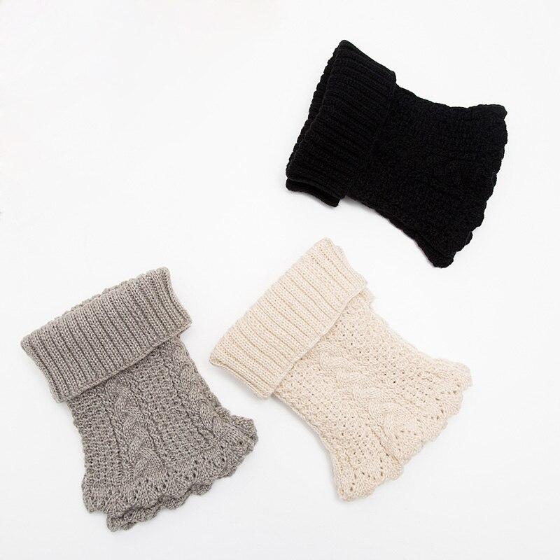 2018 nueva moda de invierno las mujeres ganchillo de lana tejida ...