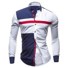 Новые рубашки мужские весна осень особенности Модные мужские повседневные рубашки комфортные рубашки мужские s повседневная мужская Узкая рубашка рубашки топы Camisas
