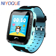 NIYOQUE GPS/GSM Tracker Watch for Kids Children Smart Watch with SOS Support GSM phone Android&IOS Anti Lost PK Q100 v7k q90 q50(China)
