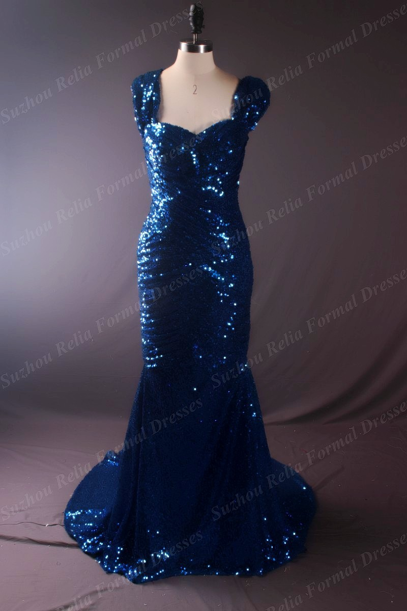 online samples promotion shop for promotional online samples on 2016 real elegant special evening long dresses sample rayal blue online sequined prom gown azul royal vestidos de festa