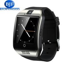 Q18 bluetooth смарт часы для android телефон поддержка SIM Карты мужчины женщины релох inteligente наручные спорт Шагомер PK GT08 A9