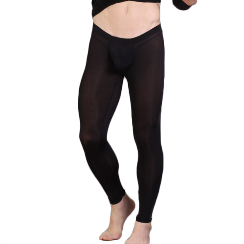 Cavehero Fashion Mens Pants Nylon Men Skinny Sexy Bodywear Trousers Cross Fit Casual Leggings Sweat