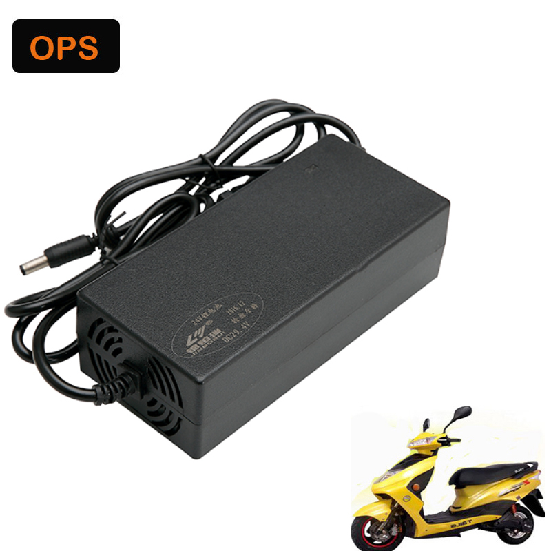 OPS 24V2A 29.4V 7S Universal Charger for E-Bike Lithium battery Li-Pro Li-ion Wheel Scooters Drifting Board Electric Charger