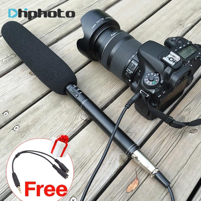 Ulanzi Directional Condenser Camera Shotgun Interview Video Microphone Microfone for Canon Nikon DV DSLR Camcorder for iPhone