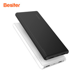 Besiter 10000mah Ultra Thin Portable Power Bank for Smart Phones Laptop Universal External Battery Charger Poverbank for Xiaomi
