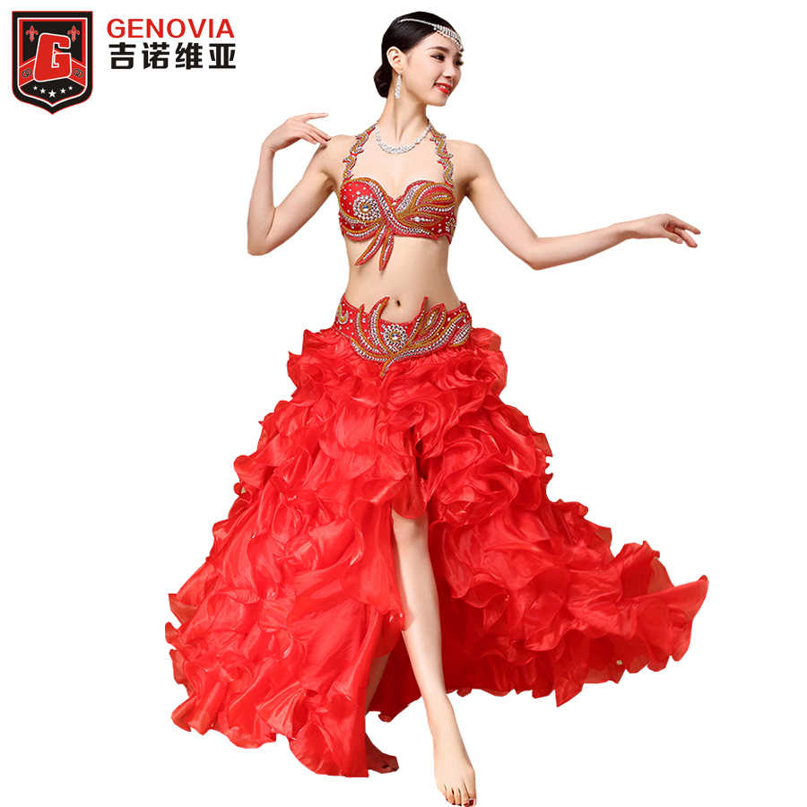 New Belly Dance Costume Top Belt Party Sets Dancer Bollywood Carnival Outfits