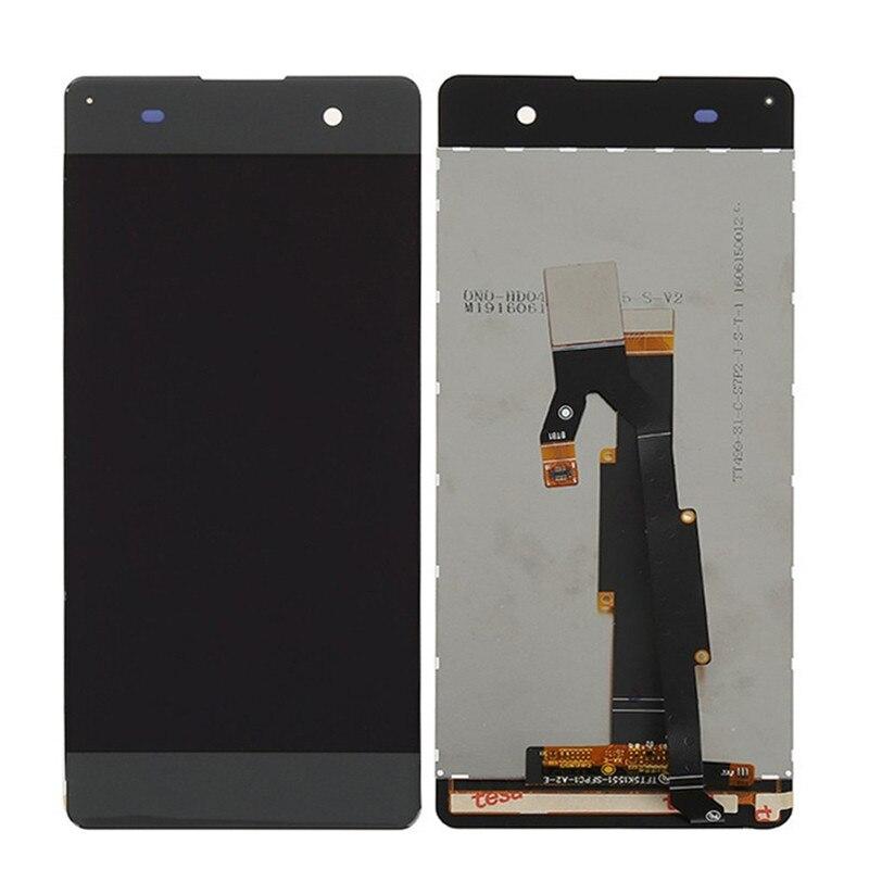 imágenes para Nueva pantalla lcd original para sony xperia xa f3111 f3112 negro blanco con pantalla táctil digitalizador asamblea piezas de repuesto