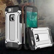 Carcasa trasera híbrida fuerte resistente a prueba de golpes para iPhone X 5 5S SE 7 8 6 6S Plus carcasa dura resistente a impactos Fundas capa