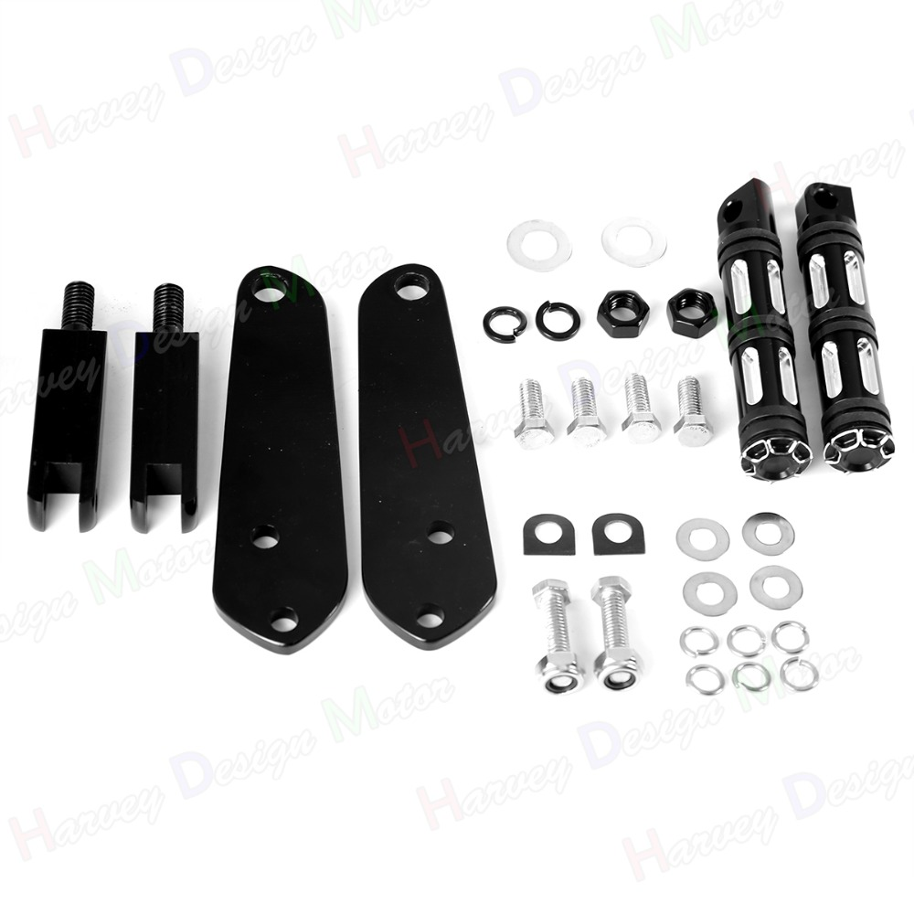 Highway Edge Cut Footpeg With mount kit 91-16 Harley Dyna FXDC FXD FXDL FXDB