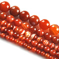 Red Agate Beads Round Carnelian Selectable 4 6 8 10 mm Natural Stone Beads For Jewelry Making Diy Bracelet Necklace
