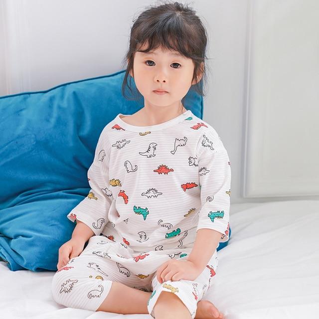 0df0d5e4337b HT2180 08 Spring Summer Children Pajamas Set Boys girls Cartoon ...