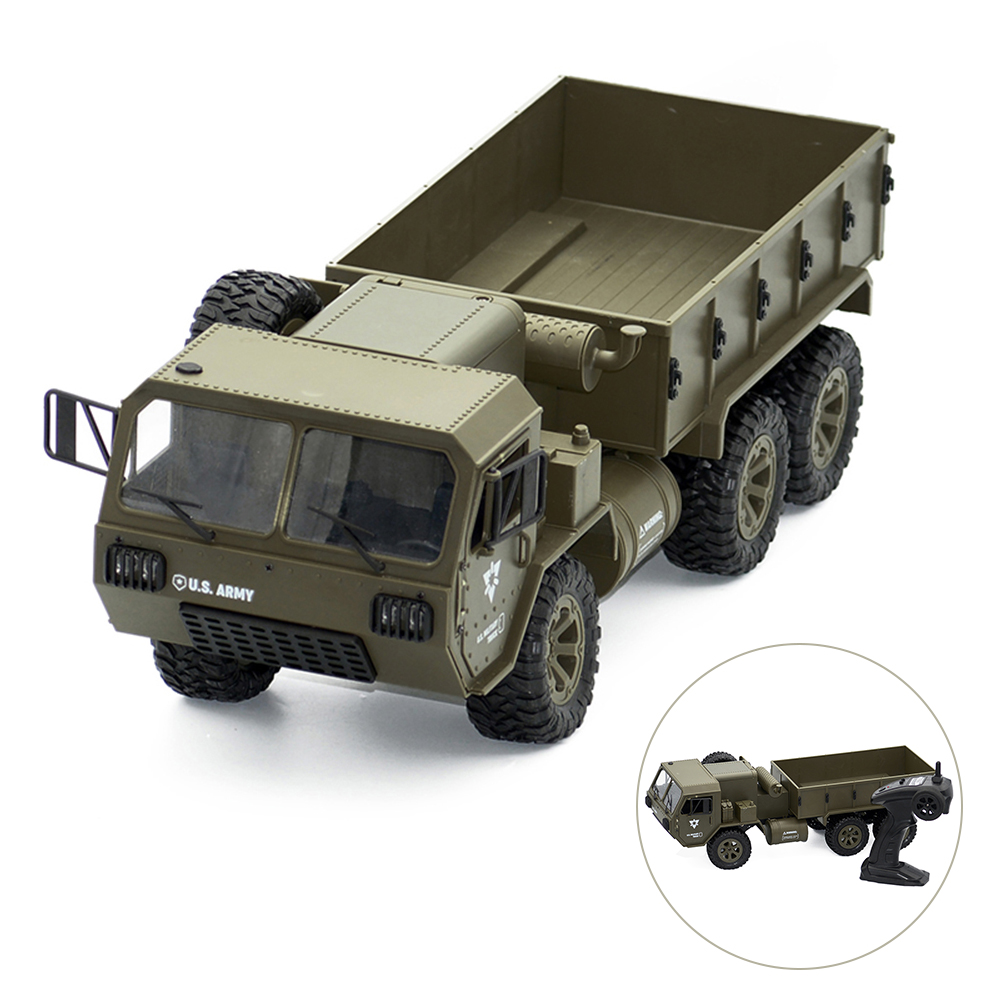 FY004A 1/16 2.4G 6WD Rc Truck Proportional Control US Army Military Truck RTR Model Toys Car with WIFI Camera Boy Toys for KidsFY004A 1/16 2.4G 6WD Rc Truck Proportional Control US Army Military Truck RTR Model Toys Car with WIFI Camera Boy Toys for Kids