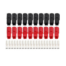 10 пар 30 А 600 в блок питания, судовой разъем, красные, черные блокировочные вилки и клеммы для Anderson Power Pole
