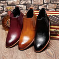 De Cuero para hombre de Negocios Vestido Formal de Oxford Brogue Wingtip Botines Zapatos Chukker