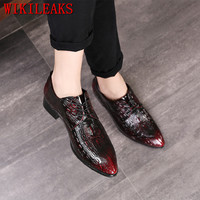 luxury brand men shoes crocodile leather dress shoes men oxford shoes for men formal mariage wedding shoes zapatos hombre vestir