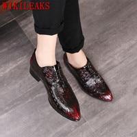 luxury brand men shoes crocodile leather dress shoes men oxford shoes for men formal mariage wedding shoes zapatos hombre vestir