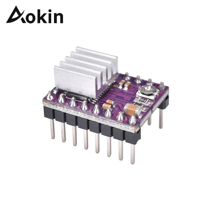Aokin DRV8825 Stepper Motor Driver With Heatsink Reprap 4 Layer PCB Board 3D Printer Parts StepStick DRV8825 DriverAokin DRV8825 Stepper Motor Driver With Heatsink Reprap 4 Layer PCB Board 3D Printer Parts StepStick DRV8825 Driver