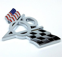 3D Metal US USA America Flag V8 Emblem Styling Sticker Universal Badge Decal Fit For Ford