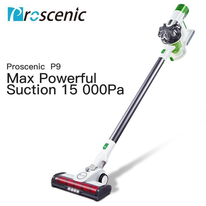 Proscenic P9 High Power Staubsauger Led Licht Tragbare Handheld Cordless Stick Vakuum 3 in 1