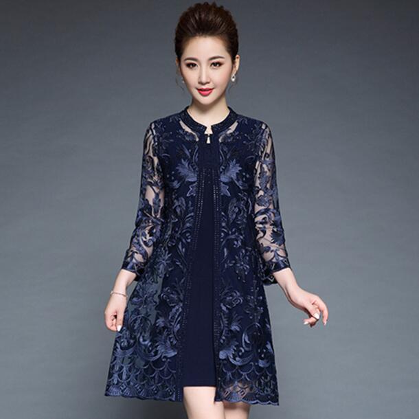 Women Elegant Vintage Hight gade embroidery 2 piece dress Party dresses Bodycon diamonds plus size 6XL dress DF538