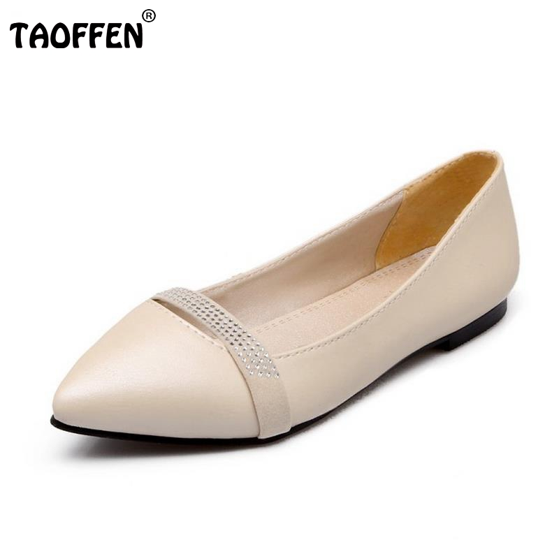 Plus Size 30-49 New Arrival Flat Women Ballet Shoes Girls Retro Shoes Women Fashion Pointed Toe Slip-on Casual Shoes Escarpin sweet women high quality bowtie pointed toe flock flat shoes women casual summer ladies slip on casual zapatos mujer bt123