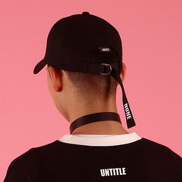 85589d694c60c Casquette 2018 Ulzzang Harajuku Ribbon Baseball Cap Korean Style Fashion  Novelty Hats And Caps For Men