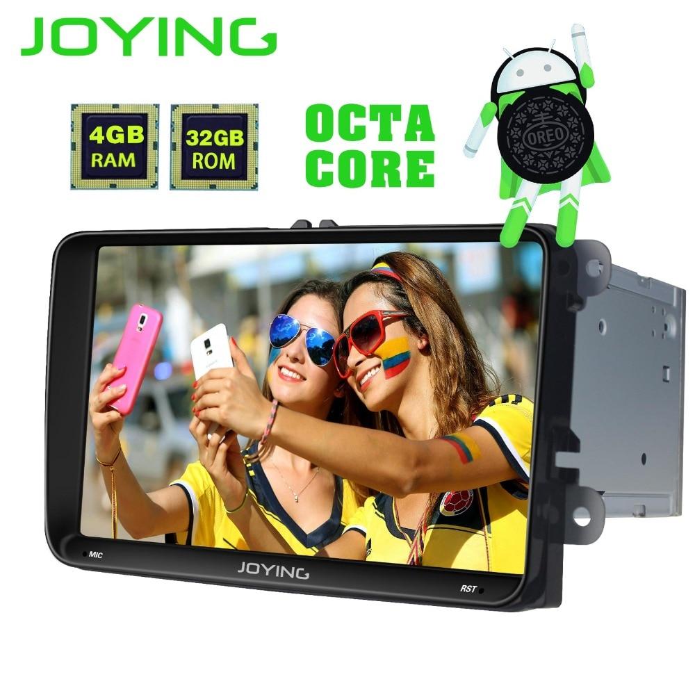 Joying 9 4 gb + 32 gb Android 8.0 Voiture Radio Audio Stéréo Autoradio Pour Volkswagen VW Skoda POLO DE GOLF PASSAT GPS Lecteur Multimédia