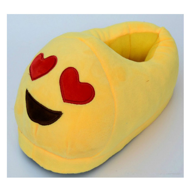 Lovely Cartoon Animal Shoes Funny Plush Toy Emoji Slipper Winter Indoor House Adult Men Women and Children Expression Slippers