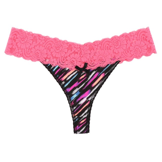 0b674d055 US Size 5 Colors Plus Size Panties Underwear Women Seamless String VS Panty  Sexy G String Thong Lace T-back Lingerie