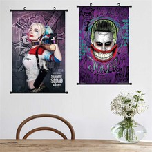 Poster Suicide Squad Canvas Art Print Movies Wall Pictures Kids Room Scroll Painting Task Force X