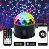 Bluetooth MP3 Crystal Magic Rotating Ball Remote Control 9 Colors RGB Disco Balls Lights Voice LED
