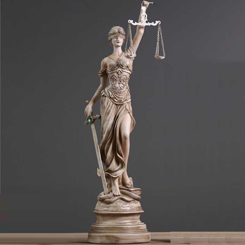 Ancient Greek Goddess Of Justice Themis Statue Resin Crafts Retro Home Decoration L3443Ancient Greek Goddess Of Justice Themis Statue Resin Crafts Retro Home Decoration L3443